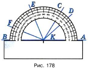 Измерьте углы изображённые на рисунке